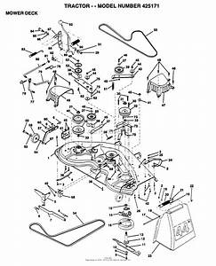 Ayp  Electrolux 425171  1995  Parts Diagram For Mower Deck