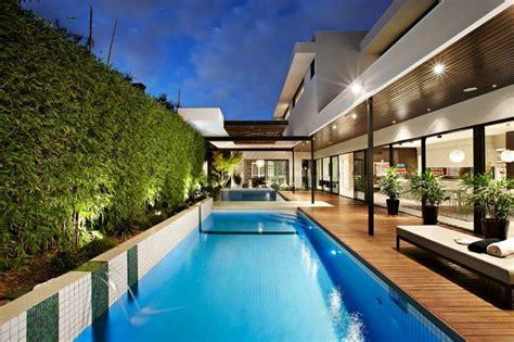 stylish melbourne home dazzles   lavish pool space