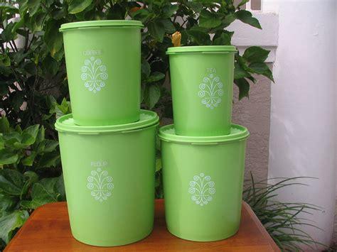 lime green kitchen canister sets vintage 4 tupperware nesting decorative canister set 9034