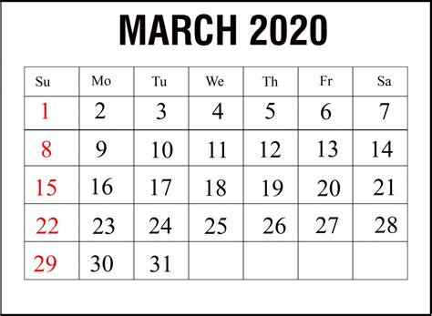 printable march calendar  template   word excel