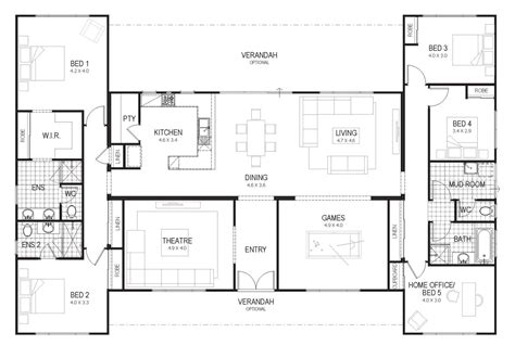 floor plan friday country home    family