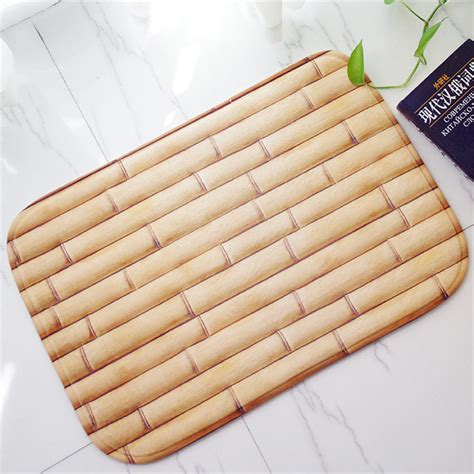bamboo kitchen floor mat 40x60cm countryside style bamboo floor mats anti slip rug 4304