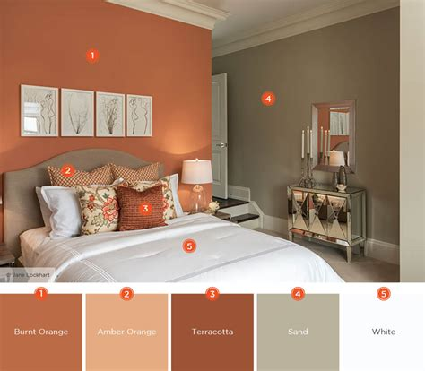 Bedroom Burnt Orange Wallpaper by 20 Dreamy Bedroom Color Schemes Shutterfly