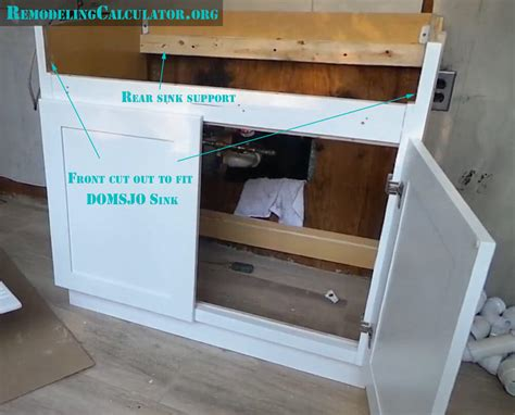 how to cut out a kitchen sink ikea domsjo sink in non ikea kitchen cabinet diy