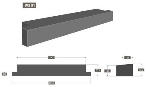 Window Sill Dimensions by Atlas Columns Pressed Concrete And Light Weight Products