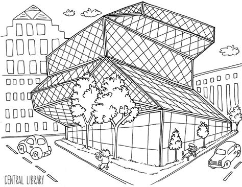 Colorful Seattle Coloring Book Available Now