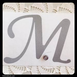 Machine embroidery oversized letter m at intro price this for Embroidery prices per letter