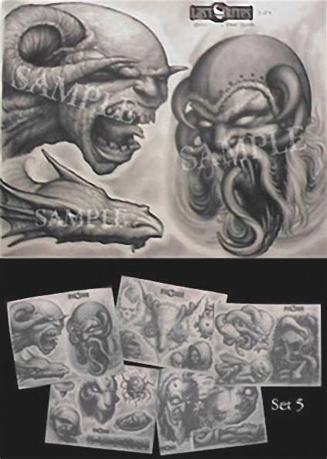 paul booth tattoo flash set   rites merchandise