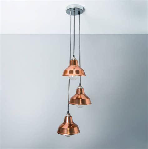 copper chandelier pendant light shade  bare bones
