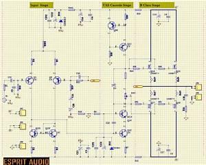 Espritaudio  Mosfet Amplifier 100w Example Schematic  Ab