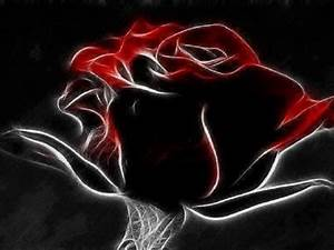 Neon red rose - 3D and CG & Abstract Background Wallpapers ...