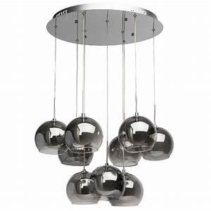 Plafonnier Boule Verre : lustre plafonnier design abat jour boule verre 9 clairages luminaires ~ Teatrodelosmanantiales.com Idées de Décoration