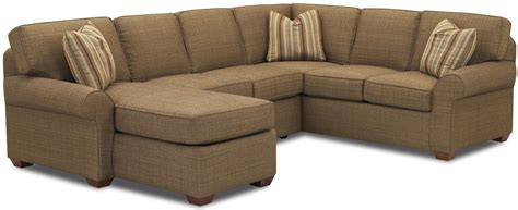 chaise lounge sofa sectional sofa with left chaise lounge by klaussner