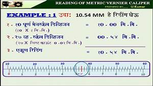Reading Of Metric Vernier Caliper