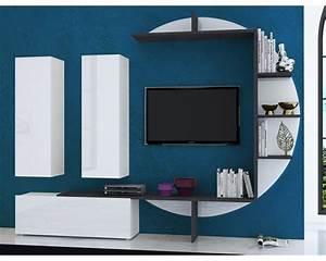 Meuble Tv Mural : meuble tv mural suspendu nos conseils ~ Teatrodelosmanantiales.com Idées de Décoration