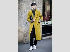 The Street Style Crowd Wore Pops of Orange at Milan Men's