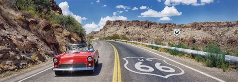 ford tbird, route 66 panorama