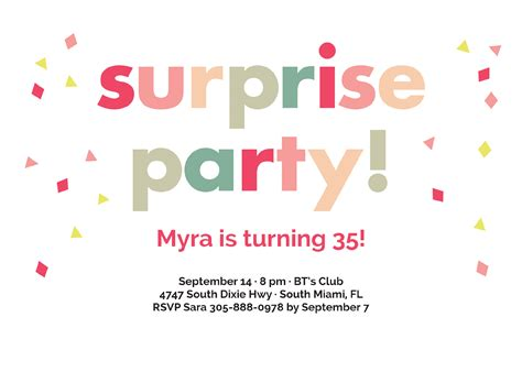 Surprise Party Invitations Oublycom