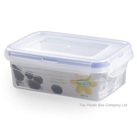 buy 400ml plastic food box with clip on lid 400ml