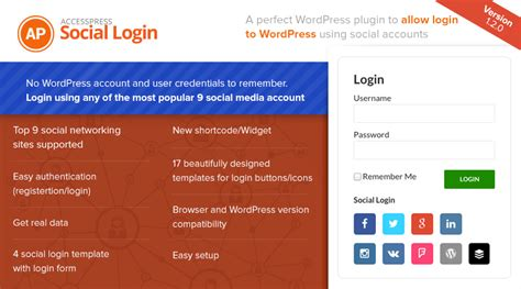 Premium Wordpress Plugin For Social Login