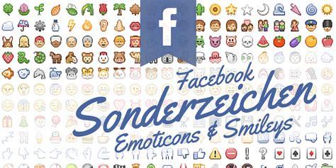 sonderzeichen emoticons emojis fuer facebook beitraege