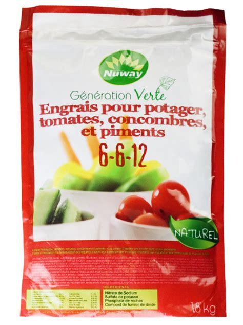 engrais pour potager tomates concombre et piments 6 6 12 nuway