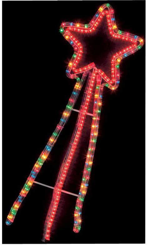 multi function colour led shooting star christmas light