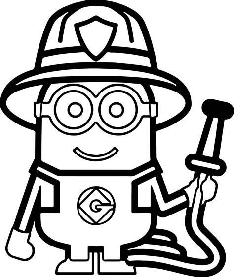 minions coloring book minions fireman coloring page coloring book