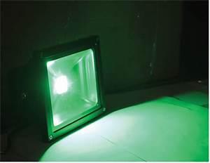 L c green watt led outdoor colour wash flood light