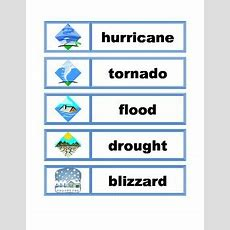 Word Wall Vocabulary Cards Weather & Seasons By England Designs