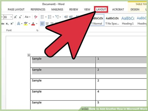 How To Add Another Row In Microsoft Word 11 Steps (with