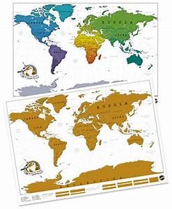 Carte Du Monde à Gratter Maison Du Monde : carte du monde gratter luckies id e cadeau originale ~ Teatrodelosmanantiales.com Idées de Décoration