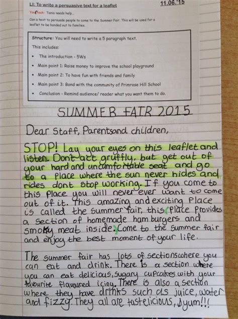persuasive writing primrose hill primary school