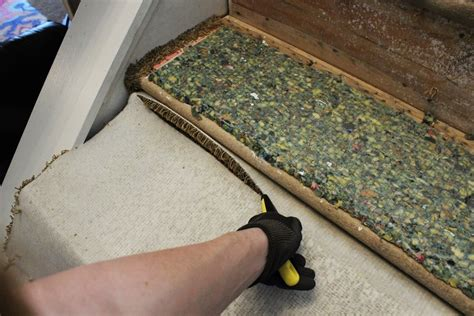 carpet remove stairs install staircase update staples way removing stair pad treppe tack tread strips removed srs entfernen teppich sie