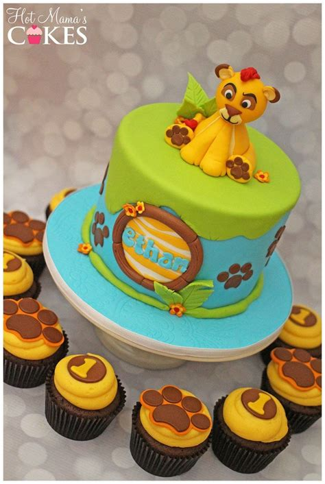 Lion Guard Inspired Cake And Cupcakes  Birthday Cake