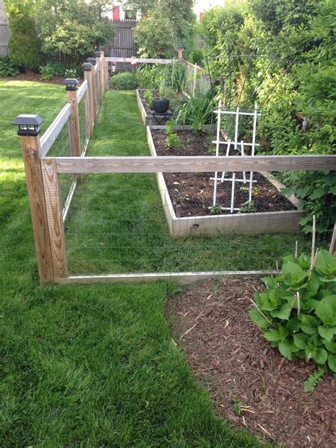 Garden Fence by Garden Fence With Raised Beds Gardening And