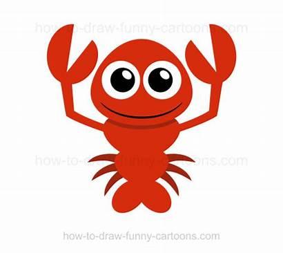 Lobster Draw Drawing Funny Step Cartoons Getdrawings