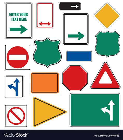 Download now the free icon pack 'roads'. Road signs Royalty Free Vector Image - VectorStock