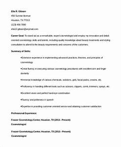 Sample cosmetology resume 6 examples in pdf word for Sample resume for esthetician student