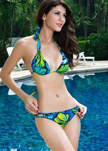 Natural Push-up Halter Swim Suit Girl Sexy Bikini