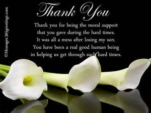 Thank You Message After Funeral