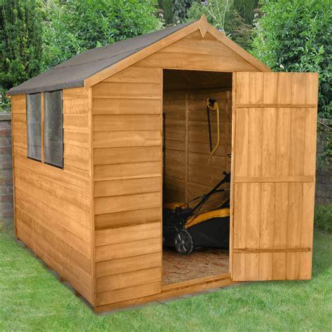ebay garden shed 8x6 wooden garden shed apex roof felt windows free