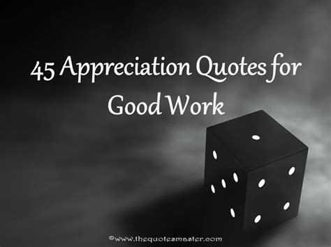 appreciation quotes  good work