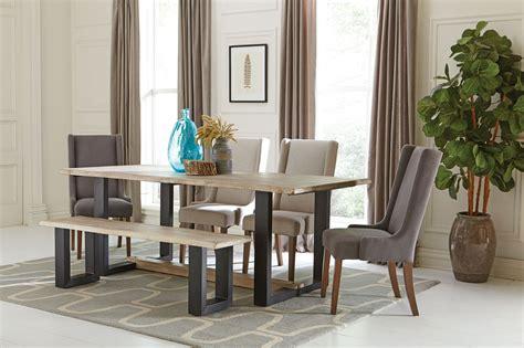 Levine Weathered Grey Dining Room Set, 180181, Coaster