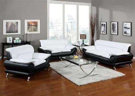 orel white  black bonded leather sofa set living room furniture pc sofa set ebay