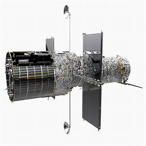 hubble space telescope 3d model