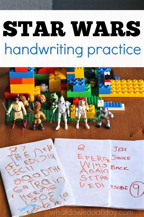 star wars handwriting practice