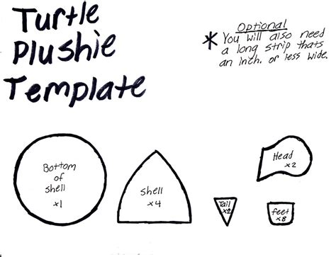 Felt Plushie Templates by Turtle Plushie Template By Grnmarco On Deviantart