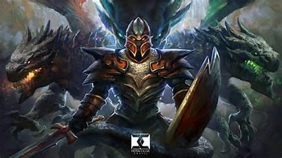 Dragon Knight Shield Sword Armor Dota Fantasy