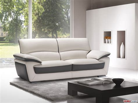 Leather Sofa In Two Colours, With High Back